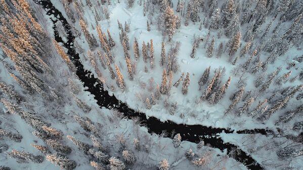 Západ slunce v Laponské přírodní rezervaci - Sputnik Česká republika