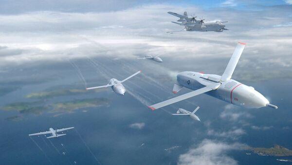 Ilustrace amerického dronu Gremlins  - Sputnik Česká republika