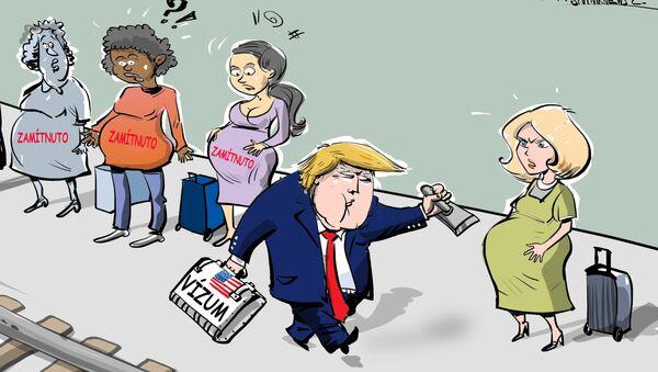 Trump odmítá vydávat víza těhotným ženám  - Sputnik Česká republika