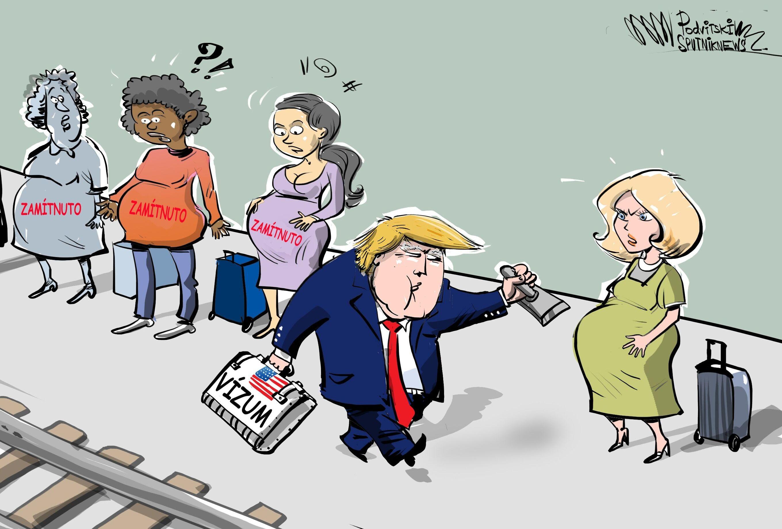 Trump odmítá vydávat víza těhotným ženám