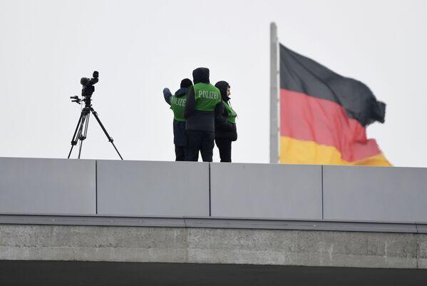 Německá policie během konference v Berlíně - Sputnik Česká republika
