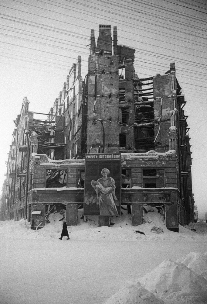 Obléhání Leningradu.