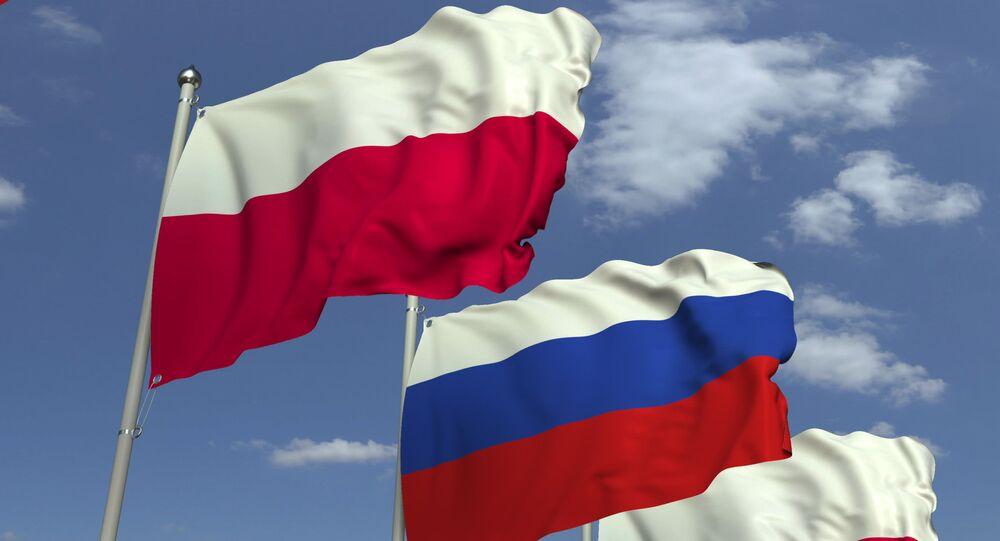 Vlajky Polska a Ruska