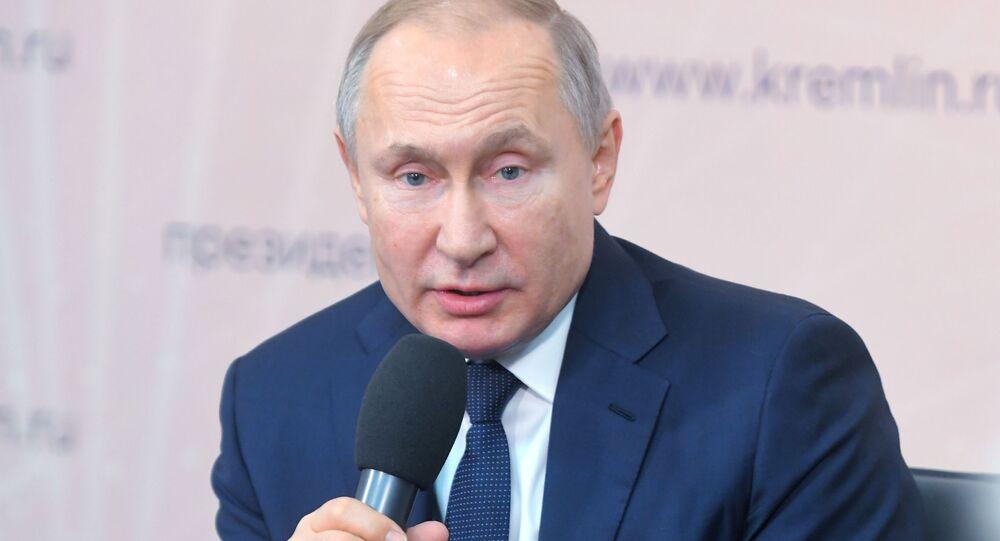 Ruský prezident Vladimir Putin v Lipecké oblasti