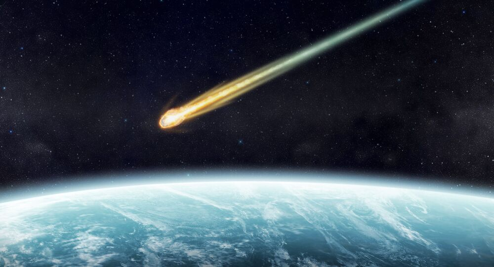 Meteorit. Ilustrační foto