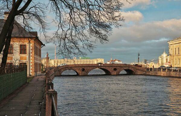 Pohled na Pračečný most vedoucí přes řeku Fontanku - Sputnik Česká republika