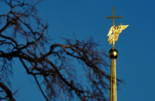 Anděl na věžičce chrámu svatého Petra a Pavla - Sputnik Česká republika