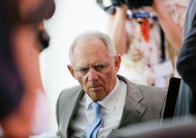 Ministr financí Německa Wolfgang Schäuble