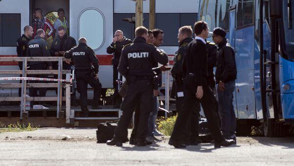 Registrace uprchlíků na dánsko-německé hranici - Sputnik Česká republika