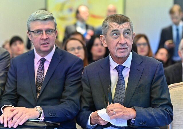 Český ministr Karel Havlíček a premiér Andrej Babiš