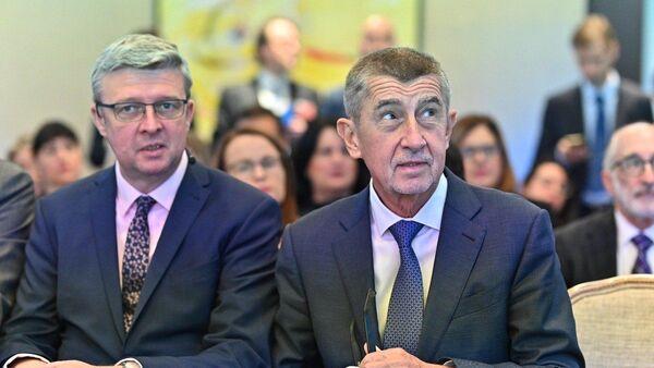 Český ministr Karel Havlíček a premiér Andrej Babiš - Sputnik Česká republika