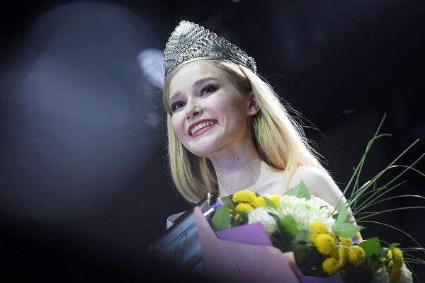 Vítězka soutěže Miss Tatarstán 2020 Anna Semjonová při slavnostním předávání korunky - Sputnik Česká republika