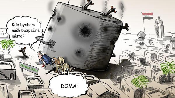 Ostřelování amerického velvyslanectví v Bagdádu - Sputnik Česká republika