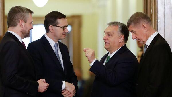 Premiéři V4 v Praze 16. ledna 2020 - Sputnik Česká republika