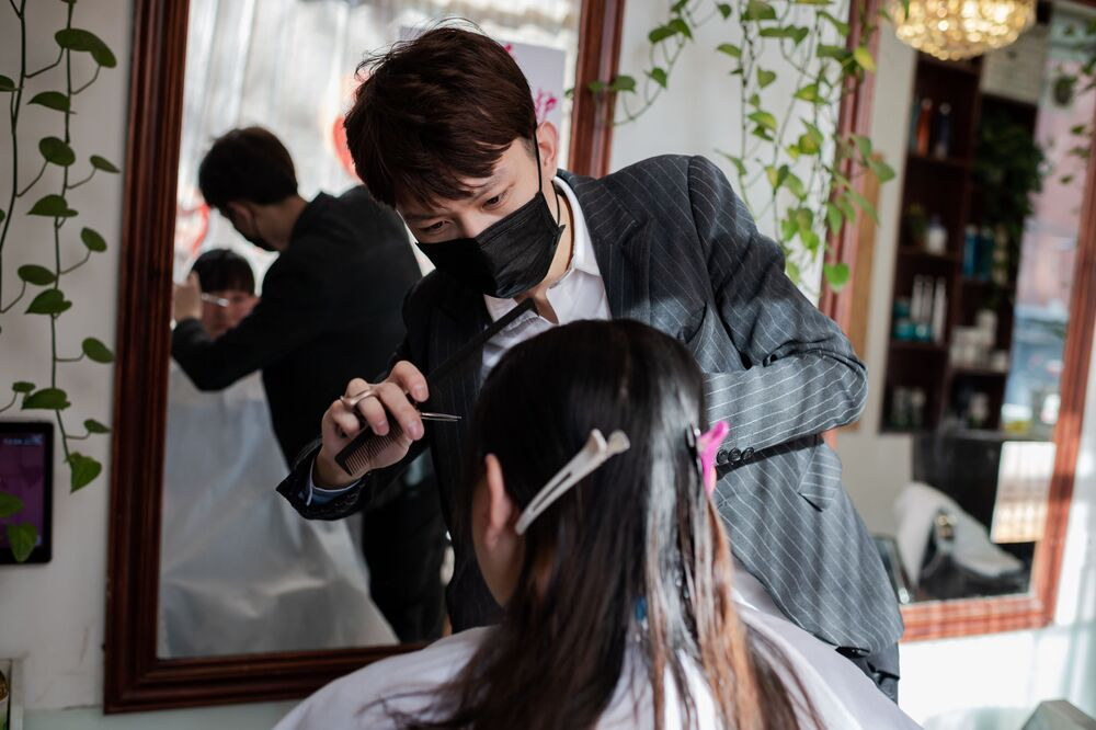 Čínský kadeřník v roušce