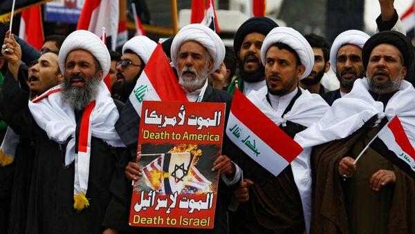 Protesty proti americké přítomnosti v Iráku - Sputnik Česká republika