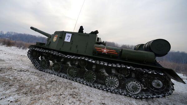 Samohybné dělo ISU-152 - Sputnik Česká republika