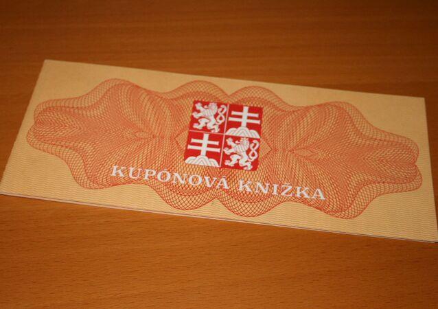 Kupónová knížka první vlny privatizace v ČSFR