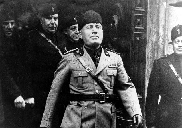 Italský diktátor Benito Mussolini, r. 1936