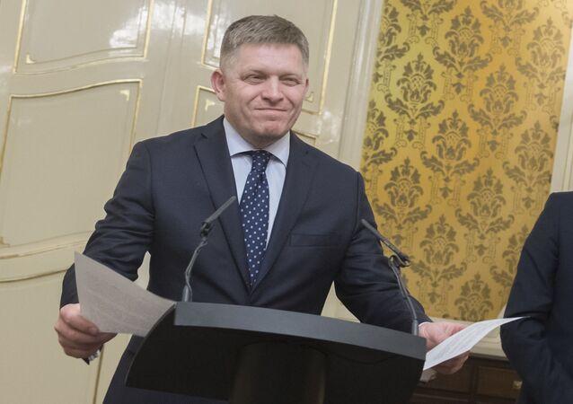 Předseda strany Směr-SD Robert Fico