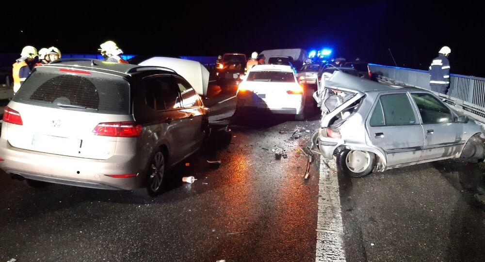 Hromadná nehoda na D10
