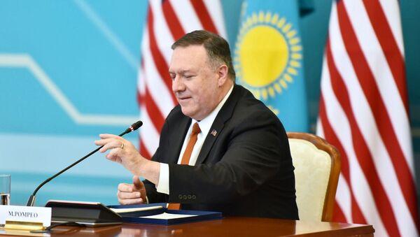 Americký ministr zahraničí Mike Pompeo na návštěvě v Kazachstánu - Sputnik Česká republika