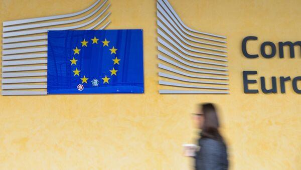 Logo EU v sídle Evropského parlamentu v Bruselu - Sputnik Česká republika