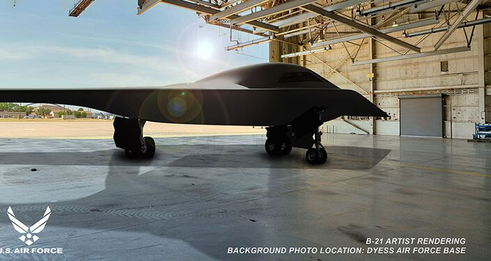 snímek nového strategického bombardéru B-21
