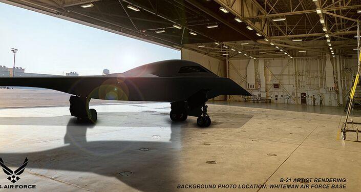 Nový strategický bombardér B-21na letecké základně