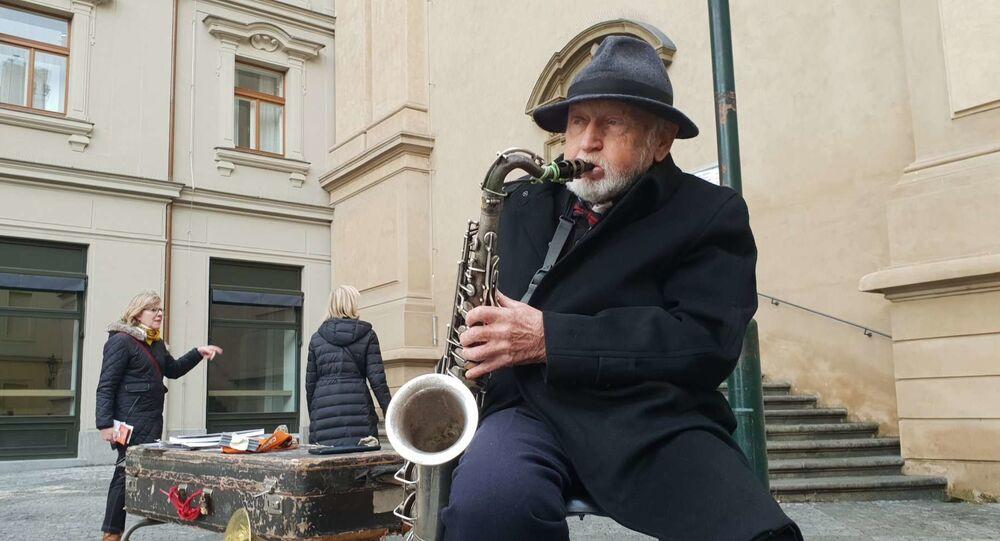 Vladimír Pinta, nejznámější busker v Praze