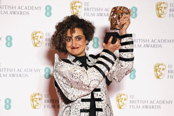 Íránsko-britská režisérka Maryam Mohajer na červeném koberci BAFTA v Londýně - Sputnik Česká republika