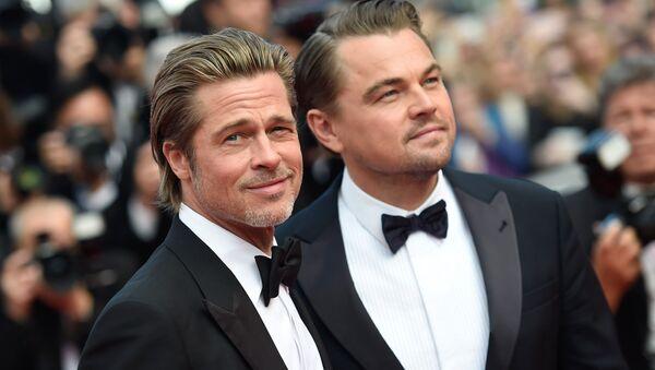 Herci Brad Pitt a Leonardo DiCaprio na červeném koberci 72. filmového festivalu v Cannes - Sputnik Česká republika