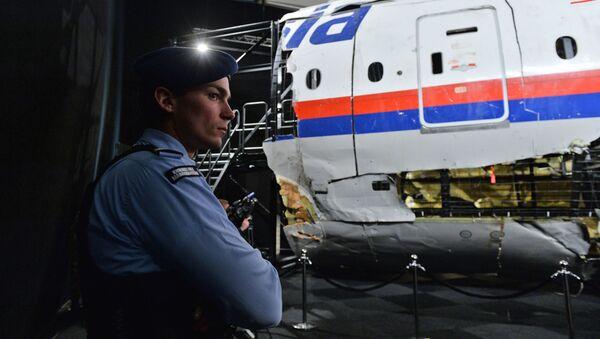 Tisková konference, během níž vyšetřovatelé informovali, o výsledcích své práce v věci katastrofy letu MH17 - Sputnik Česká republika