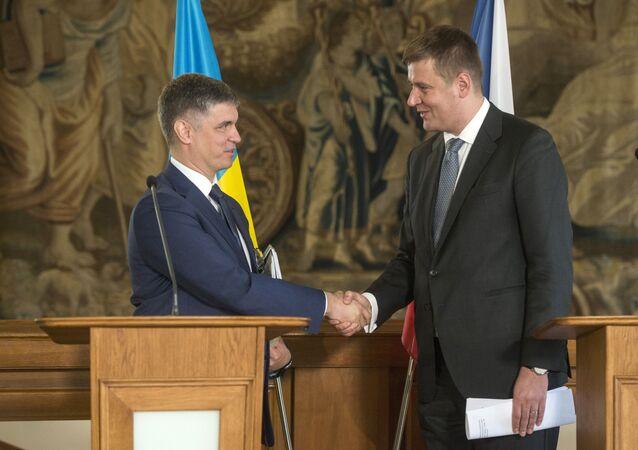 Vadym Prystajko a Tomáš Petříček (04.02.2020, Praha)