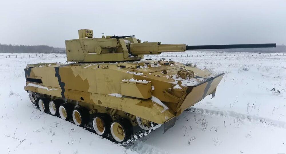 Hračky pro dospělé. V Rusku testovali nejnovější bojový modul AU-220M na dálkové ovládání