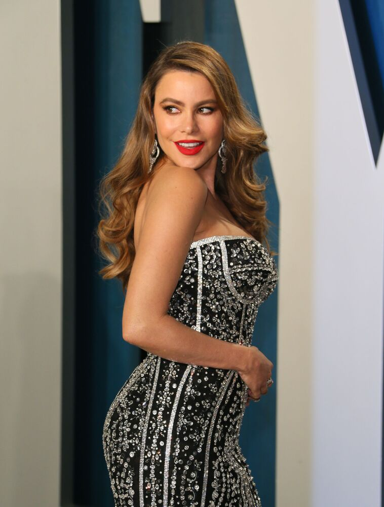 Herečka 2020 Sofia Vergara Vanity Fair Oscar Party.