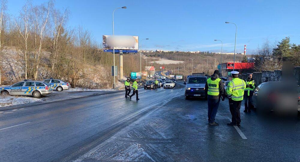 Nehoda v Praze