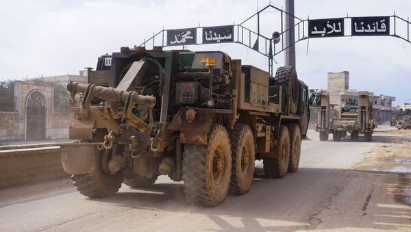 Turecký konvoj v syrské provincii Idlib - Sputnik Česká republika