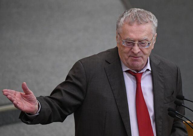 Vladimir Žirinovskij, předseda Liberálně demokratické strany Ruska