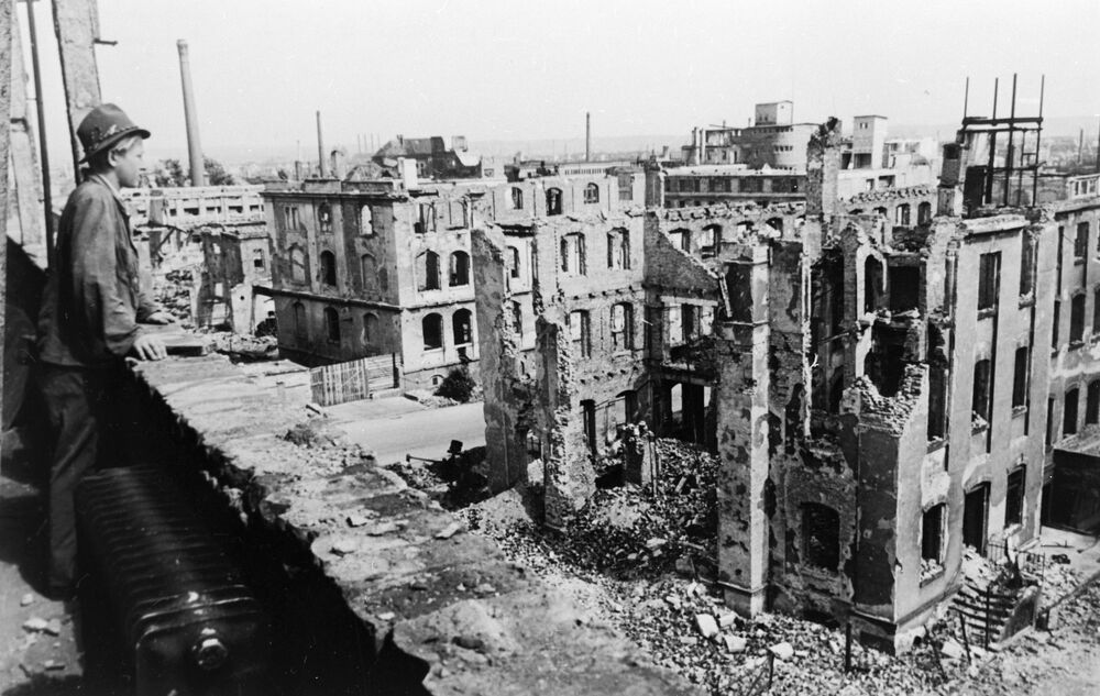 Zničené Drážďany