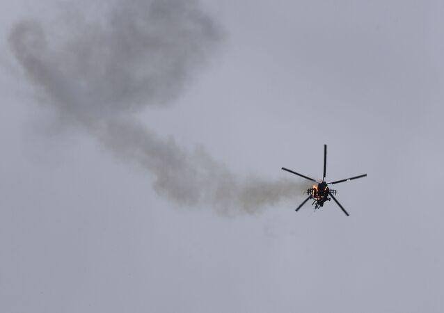 V Sýrii byl sestřelen syrský vojenský vrtulník