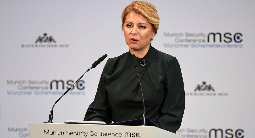Slovenská prezidentka Zuzana Čaputová na bezpečnostní konferenci v Mnichově