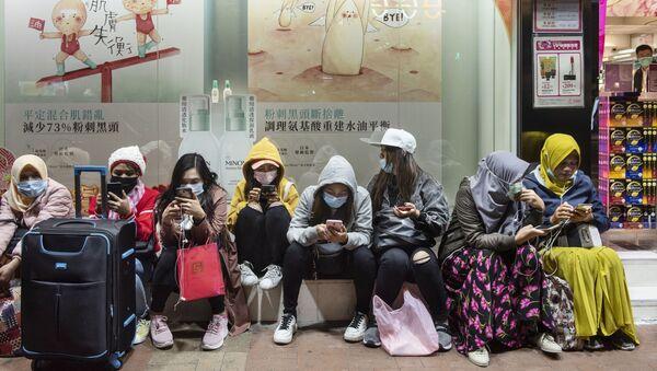 Ženy v roušcích. Hongkong - Sputnik Česká republika