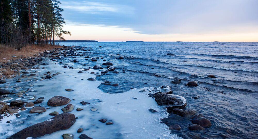 Oněžské jezero v Karelské republikce, Rusko