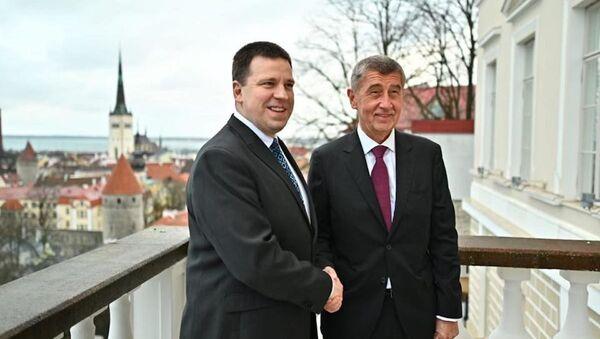 Setkání premiéra Andreje Babiše s premiérem Estonska Jürim Ratasem  - Sputnik Česká republika