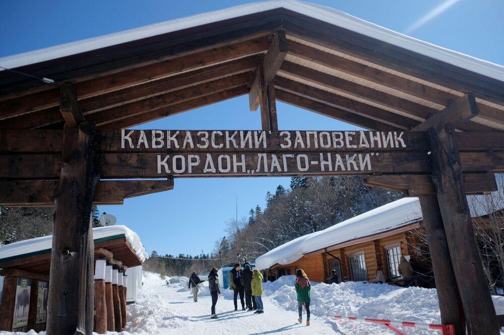 Vstup na území Lago-Naki Kavkazské státní přírodní biosférické rezervace