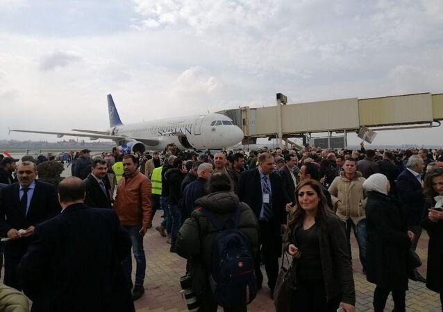 První za osm let osobní letadlo přistálo na letišti Aleppo (19.02.2020)