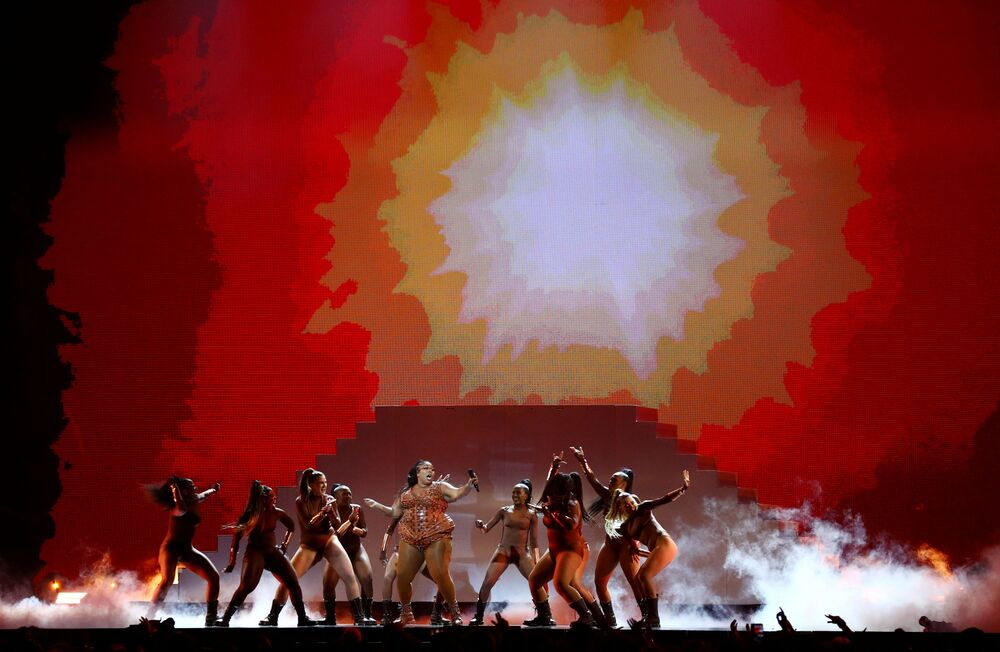 Vystoupení zpěvačky Lizzo na Brit Awards 2020