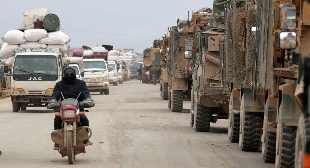 Turecká vojenská technika v Idlibu