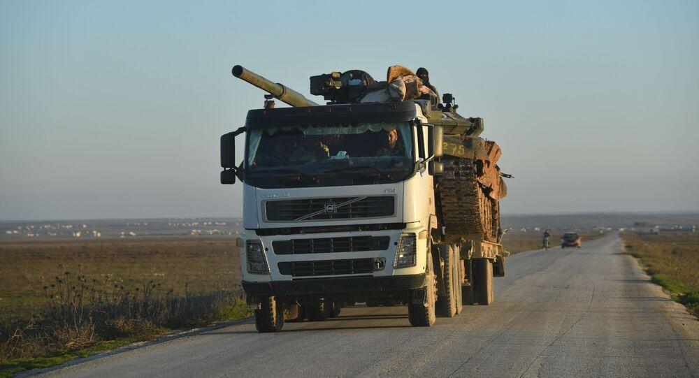 Vojenské technika Syrské arabské armády v provincii Idlib